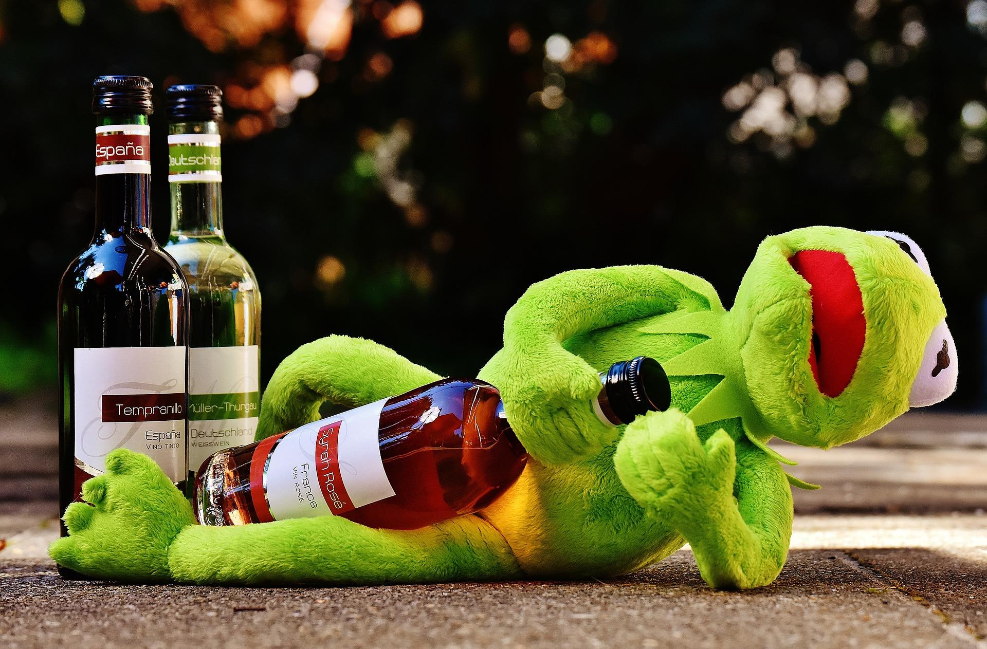 Le Corps Beau et bon en buvant alcool et vin ?